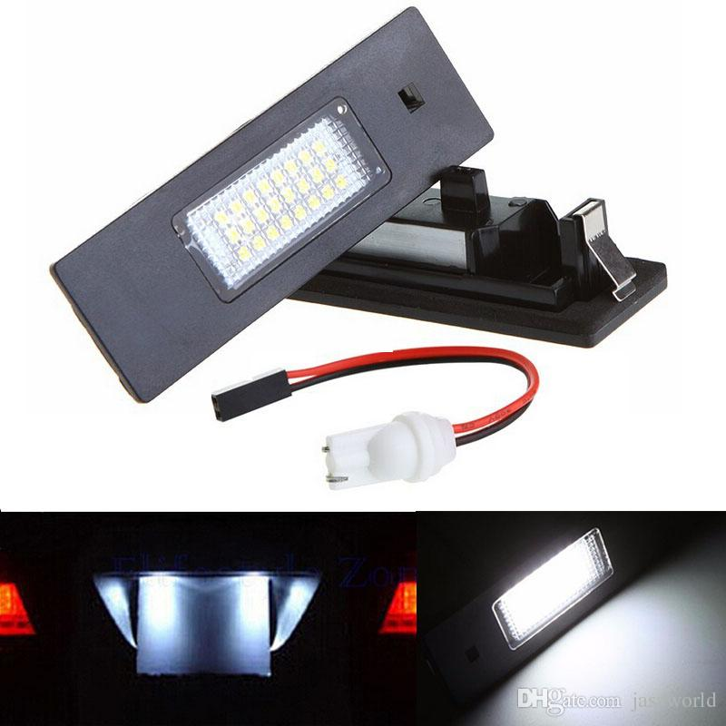 2x Error Free 24 3528 SMD LED Number License Plate Light Auto Lamp Bulb Car Light Source fit for BMW E63 E64 E81 E87 E86 E85 Z4