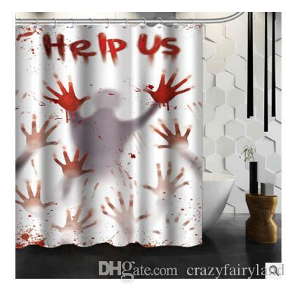 2019 Christmas Halloween Shower Curtain Waterproof Mildew Resistant Fabric Polyester 150X180cm 46 Styles DHL From Crazyfairyland