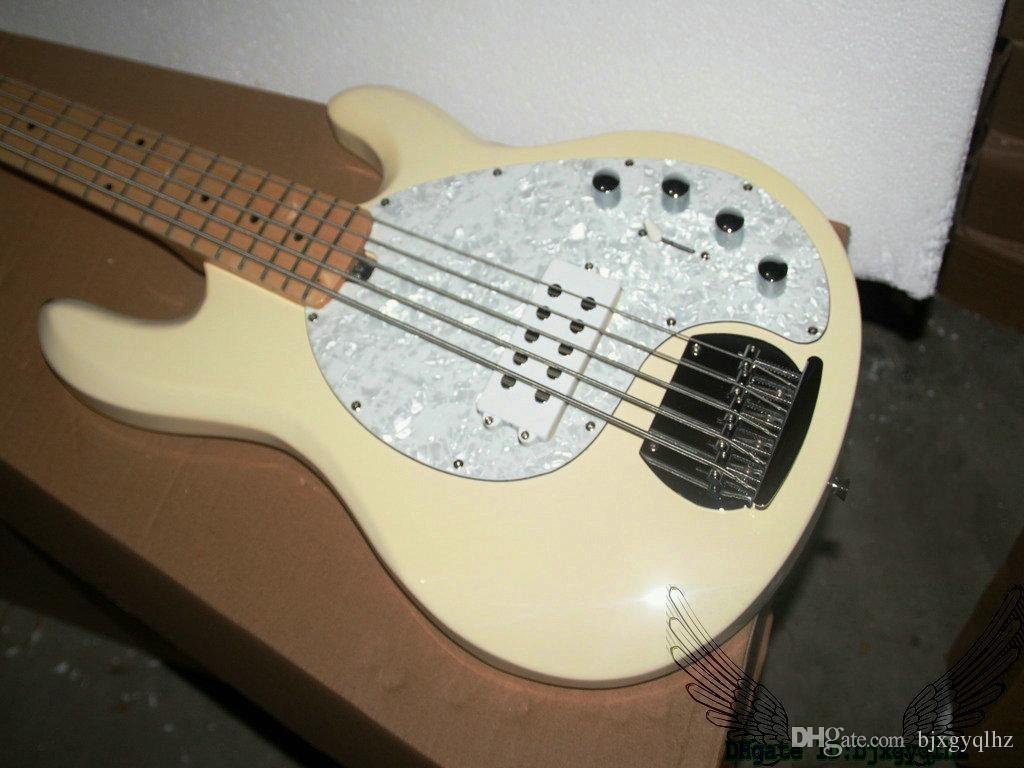Cream Custom Shop StingRay 5 Electric Bass Maple Fingerboard OEM China Guitars
