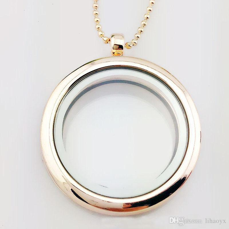 30mm floating locket DIY Jewelry transparent glass frames floating charm lockets pendants ak029