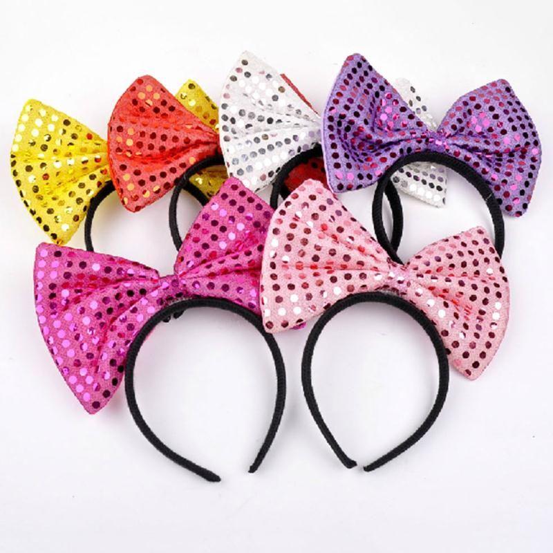 LED Light Luminous Rabbit Ears Flashing Bunny Ears Headdress Head Hair Bowknot Newly Style Dressup Blinking Head band
