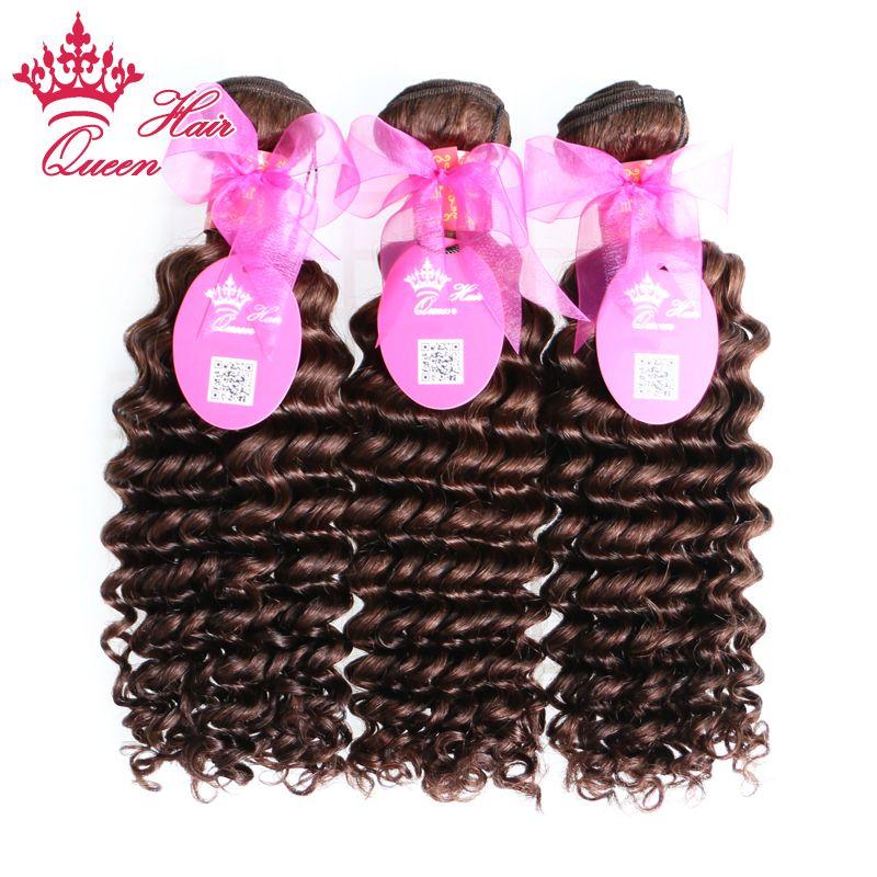 "Queen Hair Brazilian Deep Wave Human Hair Weave 14""-20""#Brazilian Virgin Hair Extensions Natural Brown DHL Free"