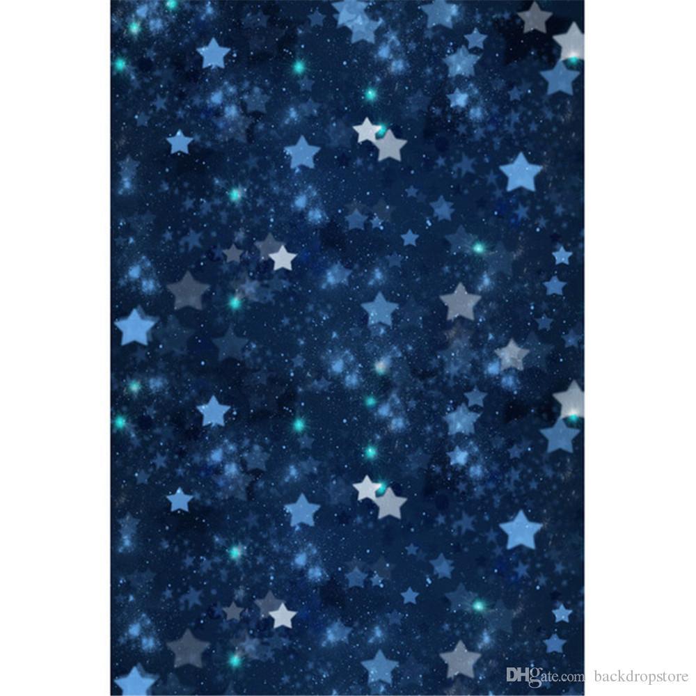 Acquista Sfondo Blu Scuro Cielo Notturno Glitter Stelle Fondali