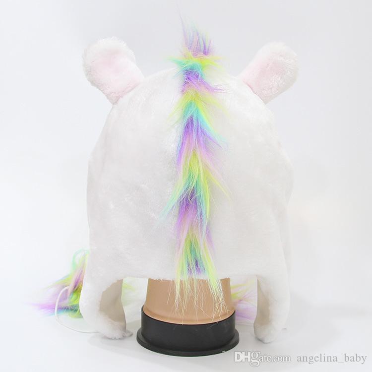 4 Цвет прекрасный Единорог уха зимние ветрозащитные шляпы новые дети мода плюшевые мягкие теплые шапки детские зимние шапки Z11