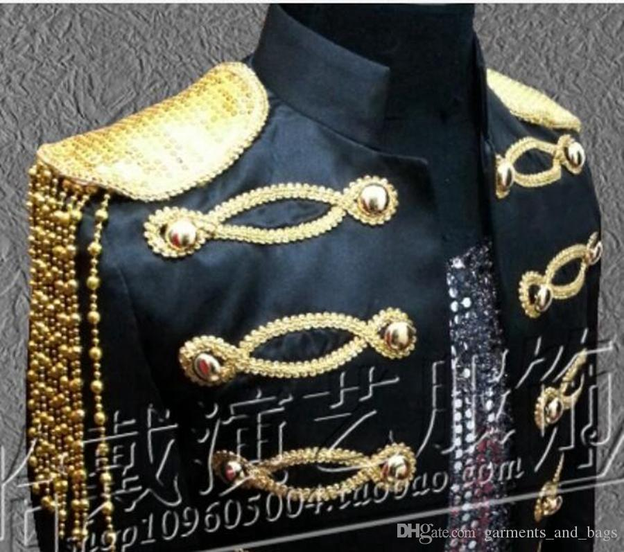 Han edición personaje trajes bar cantante estrella hombre nueva etapa rendimiento ropa clubes lentejuelas host studio coat / S - 4 xl