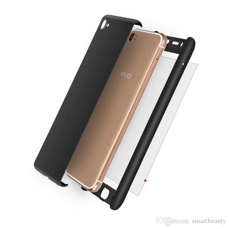 Full Cover 360 Degree Hard PC phone case for VIVO X20 Plus Y85 with screen protector full cover Back Phone cover