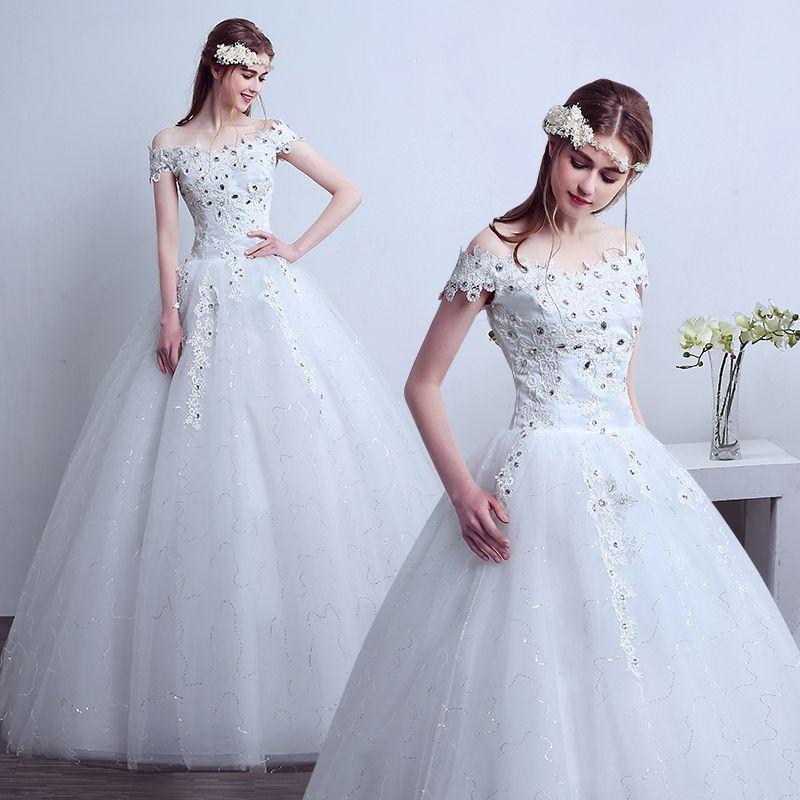 Discount Brand New Vintage Bride White A Line Wedding