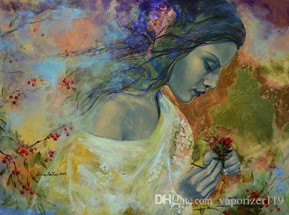 2019 Bad Modern Pretty Girl Art Painting Beautiful Giclee Print On