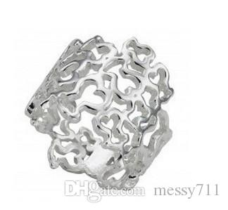 fashion Retail and wholesale stainless steel hollow more pattern wide model ring animal ring lady model