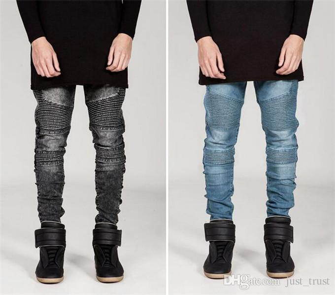 NEW SALE Jeans für Männer Fashion Famous Desginer Modelle Herrenhosen Streetwear Riss Reißverschluss Demin Hosen Männer Bekleidung