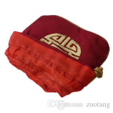 Ethnic Small Cotton Linen Jewelry Pouch Drawstring Chinese style Embroidery Lucky Gift packaging Empty Tea Candy Bag Wedding Favor