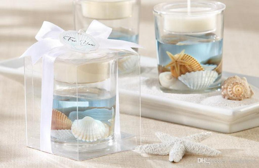 Wedding Candle Favors Holders Stands Star Cup Shaped Gel Wax Gifts