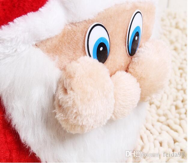Christmas Day Decoration Santa Large Sack Stocking Big Gift bags Christmas Santa Claus Xmas Gifts HJIA933