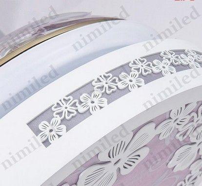 "nimi930 32""/42"" Modern Minimalist Restaurant Chandelier Flower Ceiling Fan Lights Living Room Bedroom Invisible LED Pendant Lamps"
