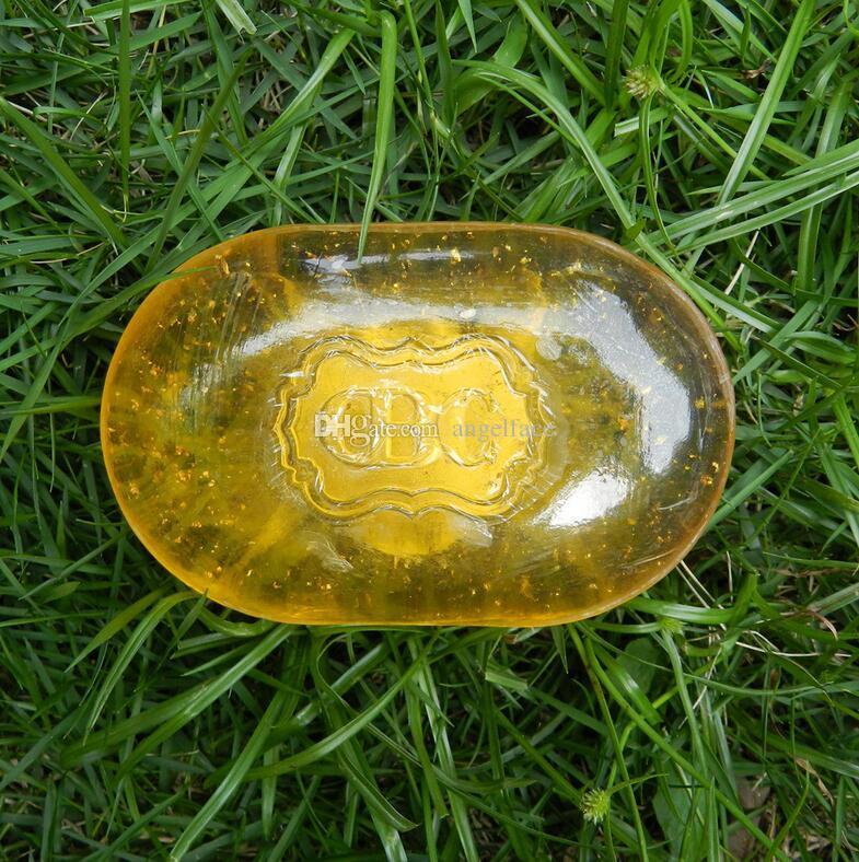 Olio essenziale naturale 24 K Gold Sapone Sbiancante Pelle viso Sapone da bagno Rilassato e rassodante Controllo della pelle olio Saponi sani DHL LIBERA il trasporto