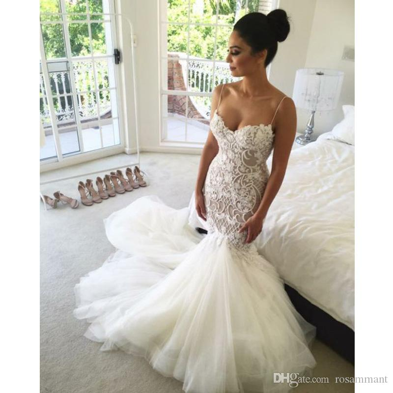 Роскошные русалки свадебные платья 2020 Robe de Mariage Mid-East Applique Vestido de Noiva Принцесса Милая Свадебные платья