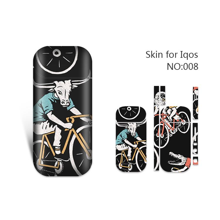 IQOS Skin Printing Wraps Sticker Cases Cover Holder for IQOS Box Mod Vape Protective Film Stickers With 19 Cool Pattern DHL