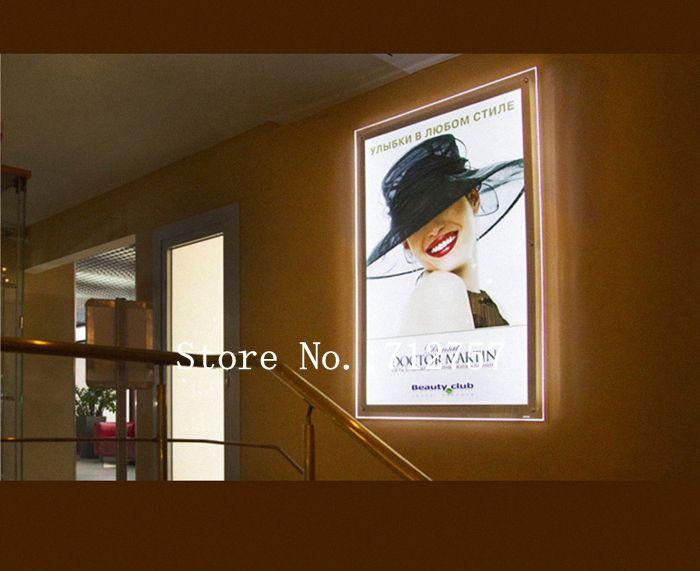 Slim Acrylic Poster Frames LED Illuminated Advertising ...