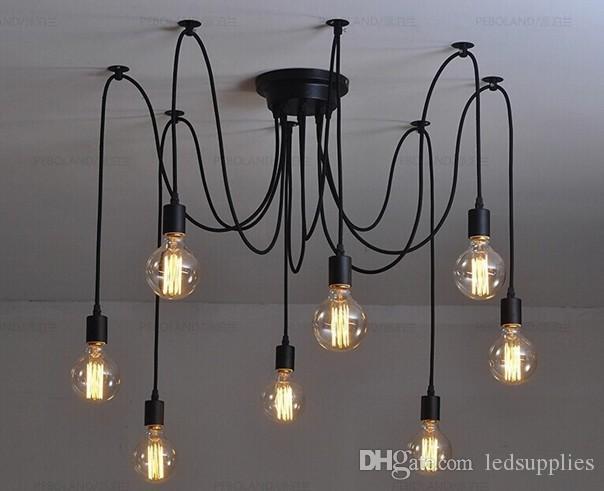 Lampadario Rustico Sospensione : Acquista antico classico edison lampadario vintage e lampada a