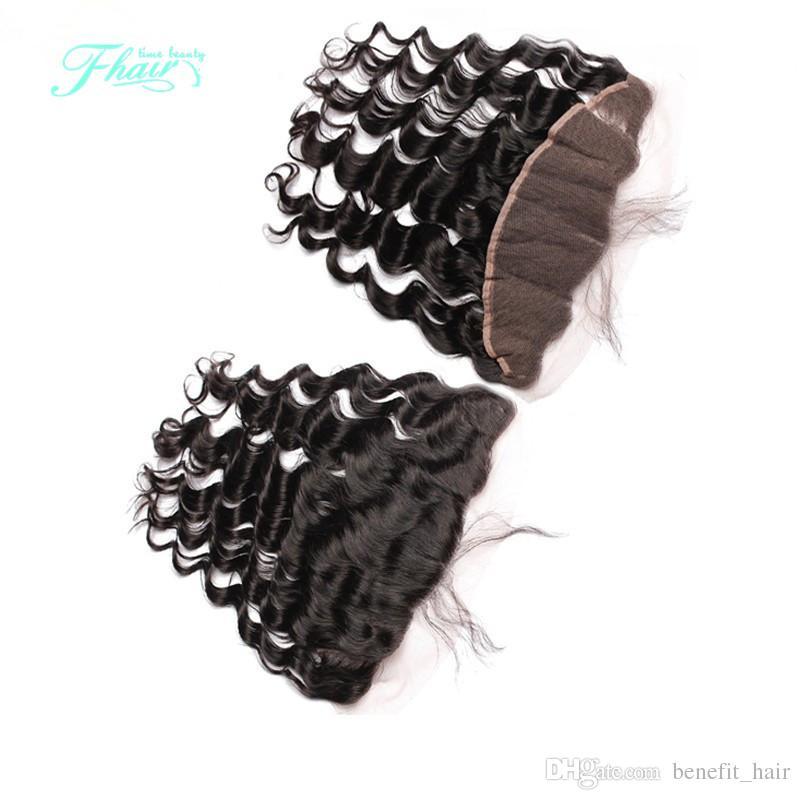 페루 레이스 정면 폐쇄 루스 웨이브 세 부분 13x4 인간의 머리카락, 전체 및 두꺼운 머리카락 폐쇄 130 % 밀도 무료 배송 DHL