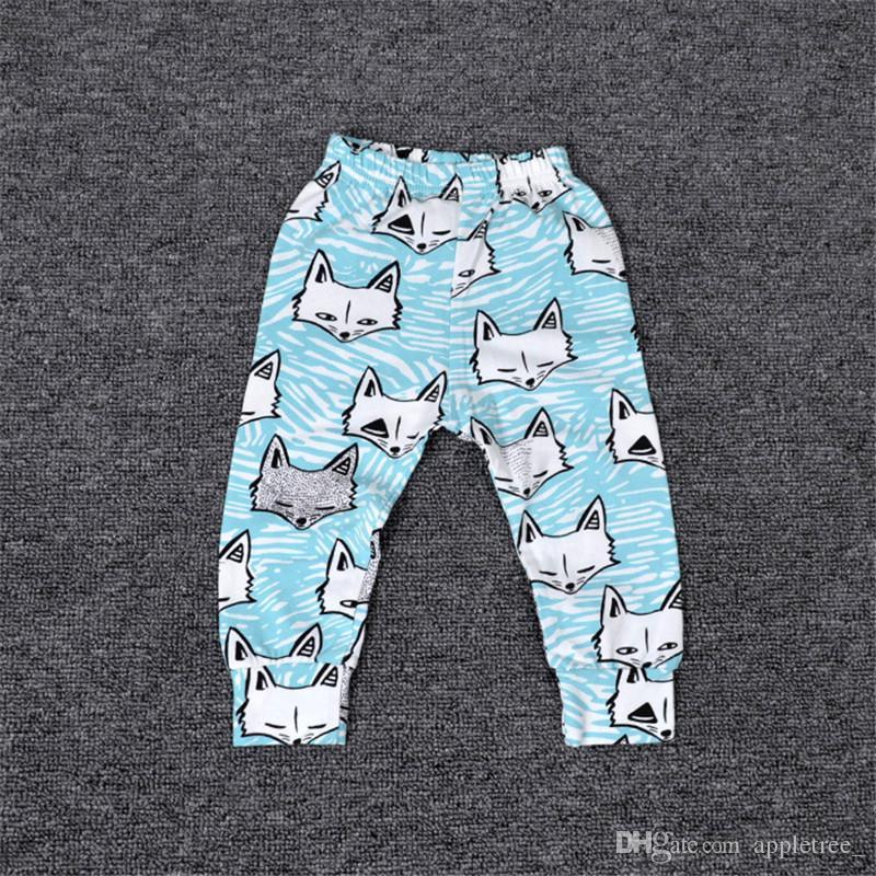 2016 Summer INS Sarouel Pantalons Garçons Filles Bébé Bande Dessinée Pantalon Pantalon Garçon Garçon Enfants En Bas Âge Coton Pands Enfants Printemps Automne Vêtements Vêtements