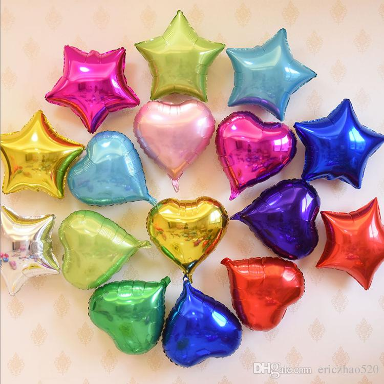 5inch Aluminum Balloons Wedding Party Home Décor Love Heart Shape Balloon Party Festival Celebration Balloons