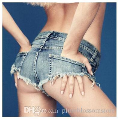 eb85b1fad1 Summer Women's Jeans Denim Shorts Low Waist Sexy Nightclub Style Hot Pants  Slim Girls Casual Mini bikini beach wear pant shorts