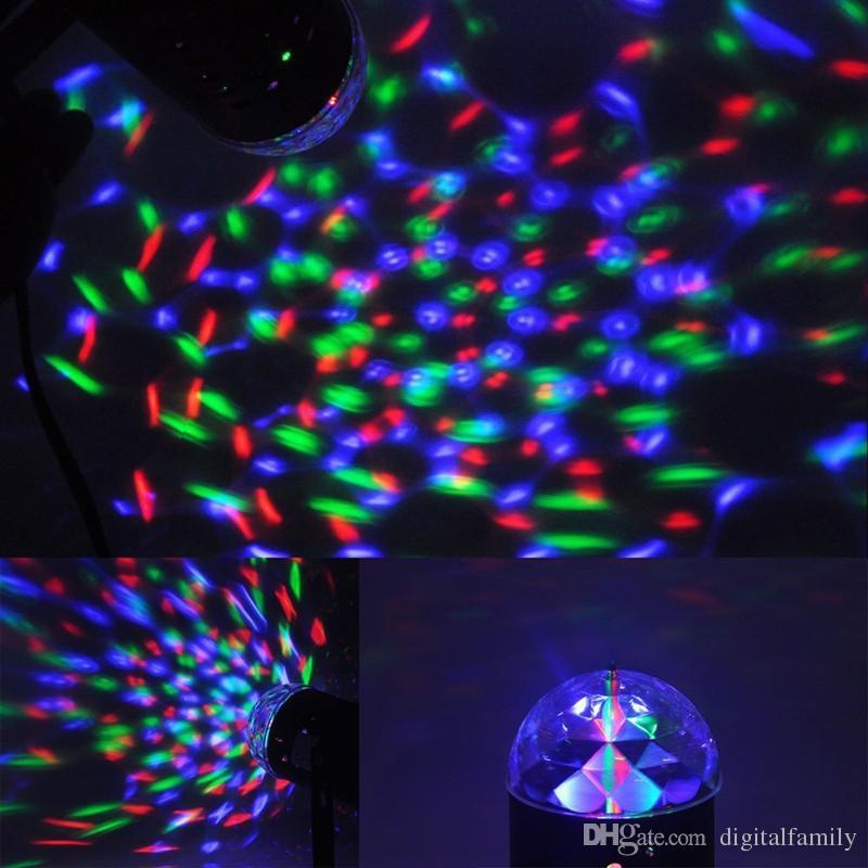 디스코 빛 다채로운 DMX 3W DJ LED 자동 이동 헤드 회전 무대 빛 RGB 크리스탈 저녁 조명