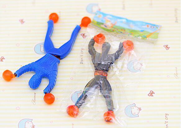 Kid's Toys Novelty Sticky Wall Climbing Flip Spiderman Climber Superman DHL Free