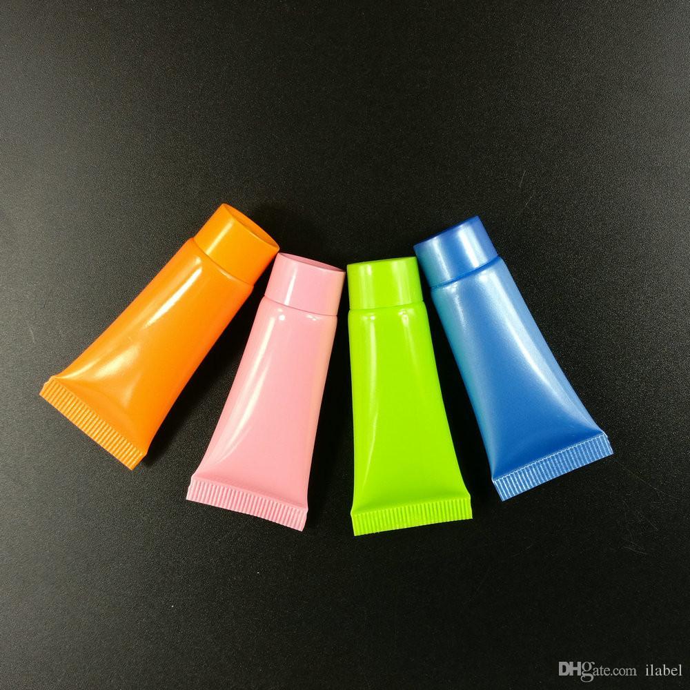 Mutil 컬러 병 10 ml 소프트 튜브 화장품 용기, 크림 로션 분명 빈 튜브