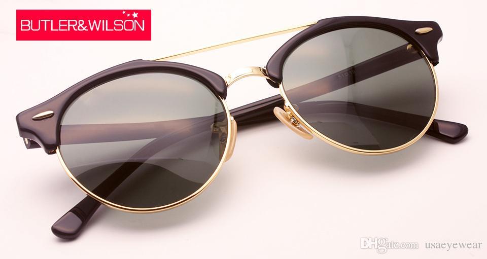 92269b5d9c Compre 2016 Nuevas Gafas De Sol Hombres Mujeres Marca Diseñador Moda  Acetato Gafas De Sol Marco De Metal De Calidad Superior Nueva 51 Mm  Original Caso De La ...
