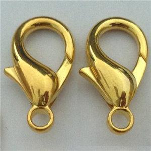 gioielli fai da te risultati lucido oro ganci braccialetti fibbia alterna commerci all'ingrosso nichel libero piccolo waterdrop primavera vuoto aragosta metallo 10mm 1000 pz