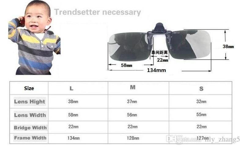 / Wholesale-New Polarized Day Night Vision Clip-on Flip-up lente de conducción Gafas de sol gafas de sol