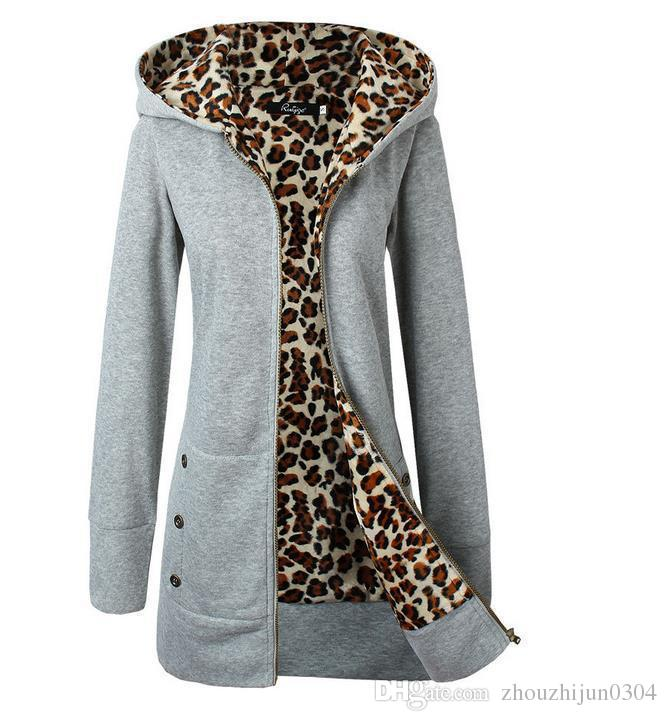 2017 New Winter Fashion Women Hooded Thicker Leopard Cashmere ...