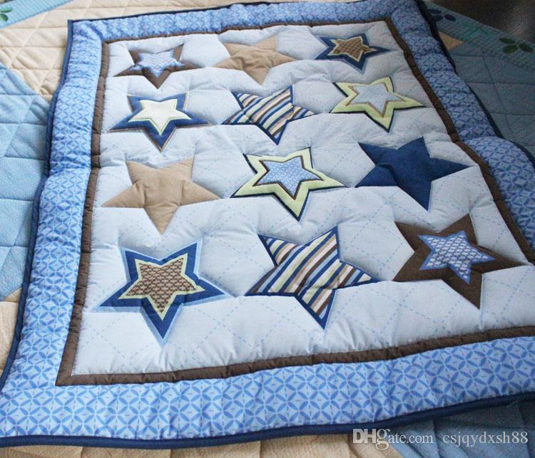 Embroidery stars Baby bedding set cotton Crib bedding set Quilt Bumper Mattress Cover bedskirt Cot bedding set