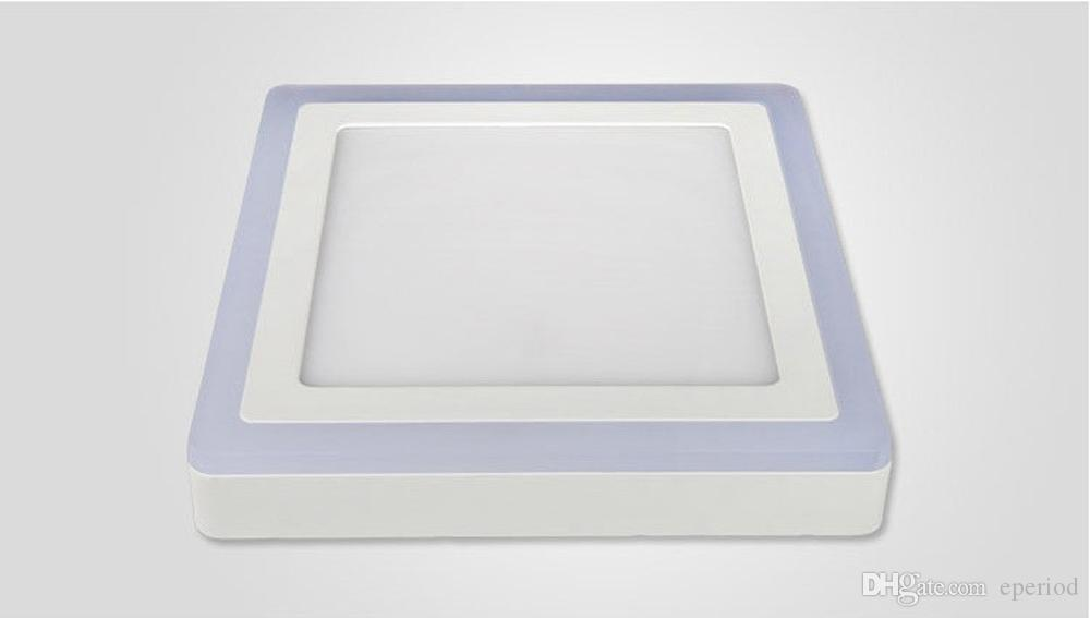 DHL free LED panel lights Double Color Round/Square 6W/9W/16W/24W 3 Models Surface Mounted LED Downlight lighting AC85-265V