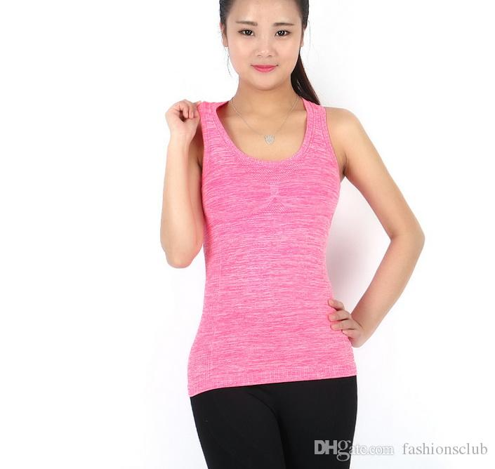 Gym Sports TShirt femmes sport gilet Yoga Workout Gilet Fitness Entraînement Exercice séchage rapide Sportswear Tee Débardeurs Maillots Vêtements