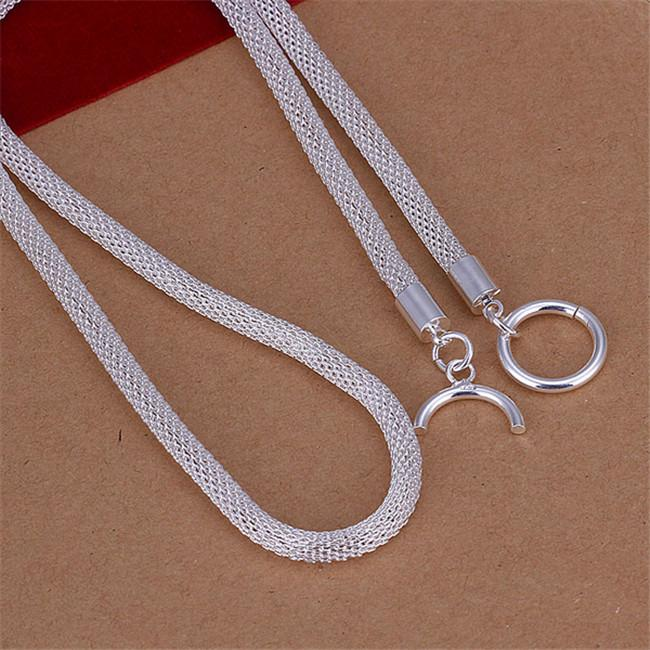 Net Necklace sterling silver necklace STSN087,hot sale fashion 925 silver Chains necklace factory direct sale christmas gift