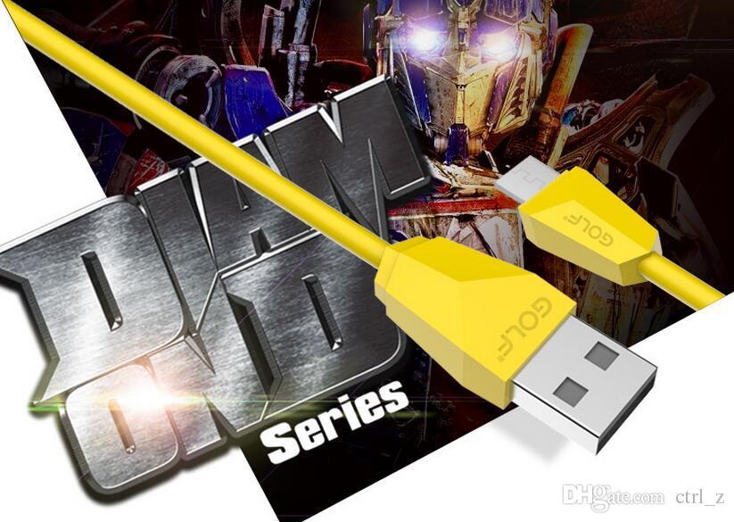 2016 marque Golf Micro fil cordon USB Câble de synchronisation de données de charge rapide pour Samsung S6 S7 avec boîte de détail huawei