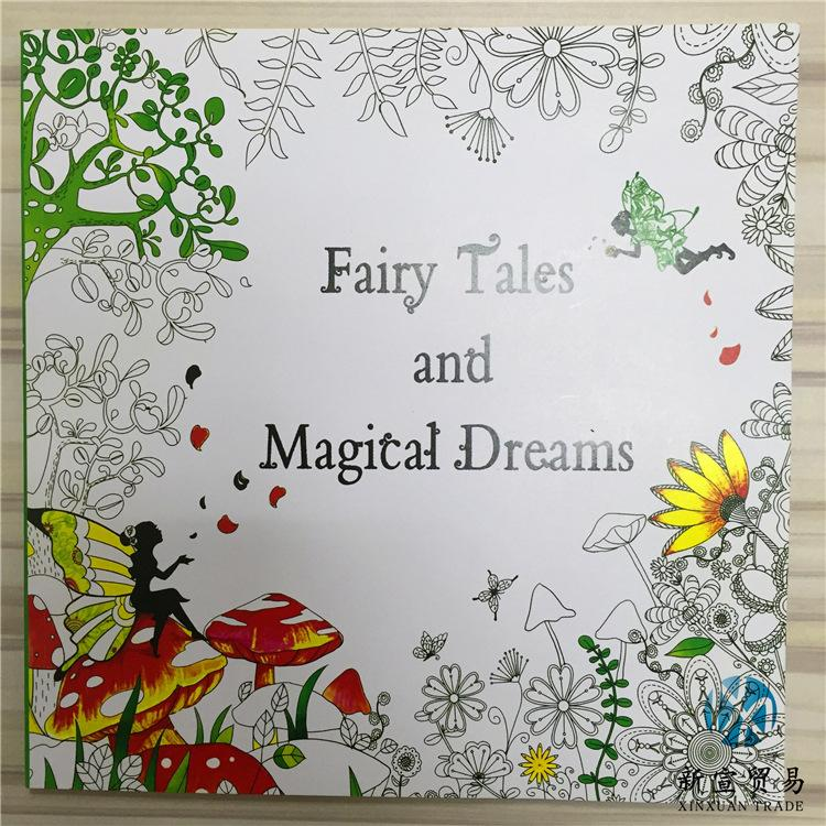 Newest 48 Pages Coloring Books Drawing Enchanted Forest Fairy Tales And Magical Dreams Book Animals Colouring From Topan