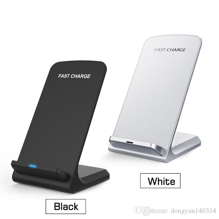 Cargador inalámbrico rápido de 2 bobinas Cargador inalámbrico de carga Qi para iPhone X 8 8Plus Samsung Note 8 S8 S7 Todos los Smartphones con Qi habilitados