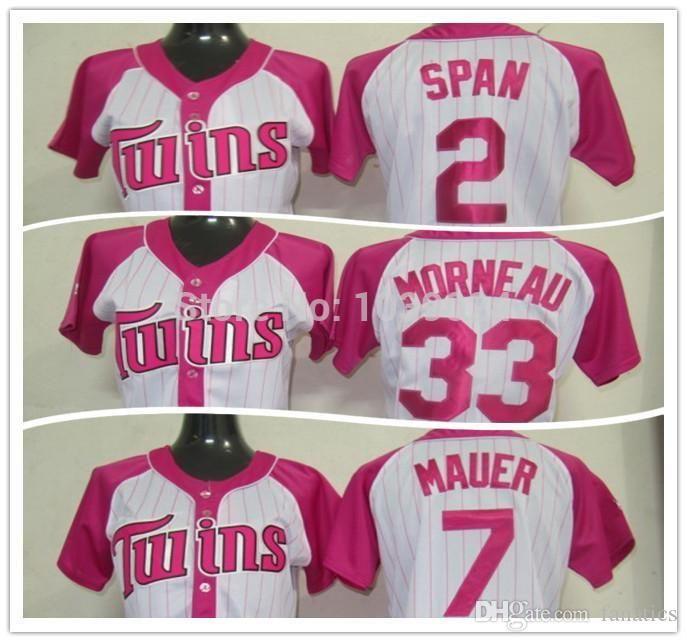 6e10fa80933 Womens WhitePink Joe Mauer Splash Fashion Jersey - Minnesota Twins 7  Majestic 2017 2016 Nwt Wholesale Pink Minnesota Twins Jersey Cheap Wo ...