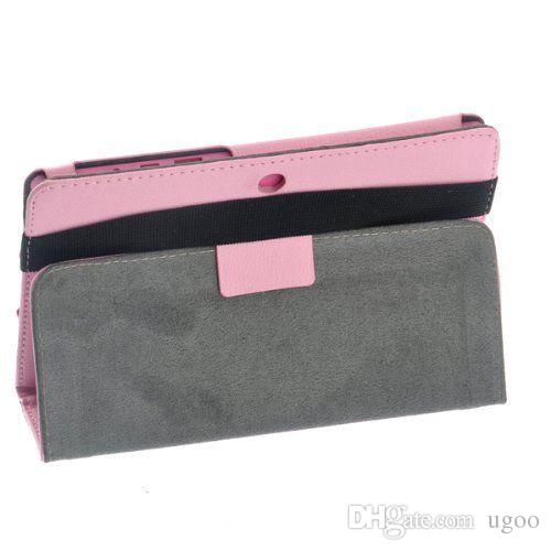 7 inch Protective PU Leather Case with stand holder and bandage for Allwinner 7inch A13 Q88 Q8 Android Tablet pc HOT sell