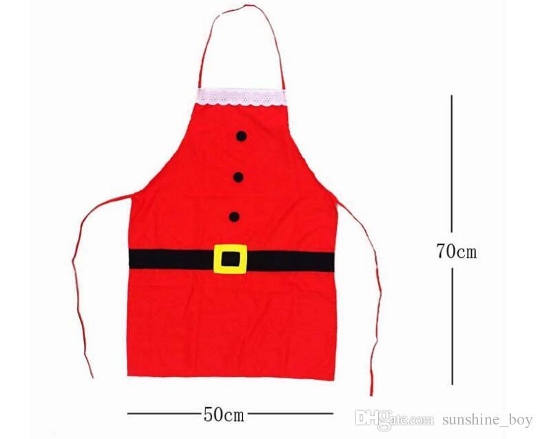 2018 ventas calientes delantal del sombrero de Navidad decoraciones de cocina de casa de Navidad actividades de la fiesta de Navidad 20 unids / lote