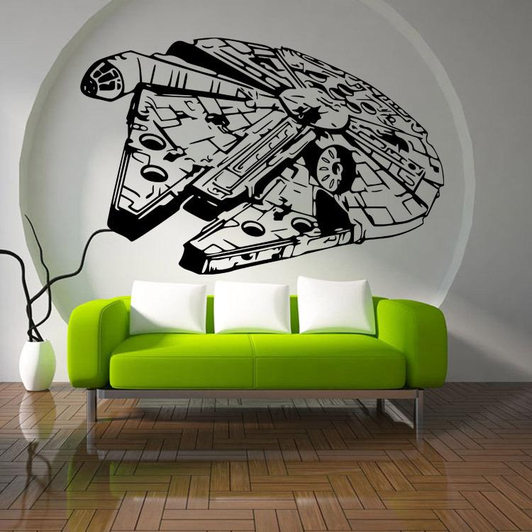 Star Wars Millennium Falcon Fighter Living Room Vinyl Carving Wall Decal  Sticker For Home Window Decoration Wall Decal Stickers Wall Decal Tree From  ...