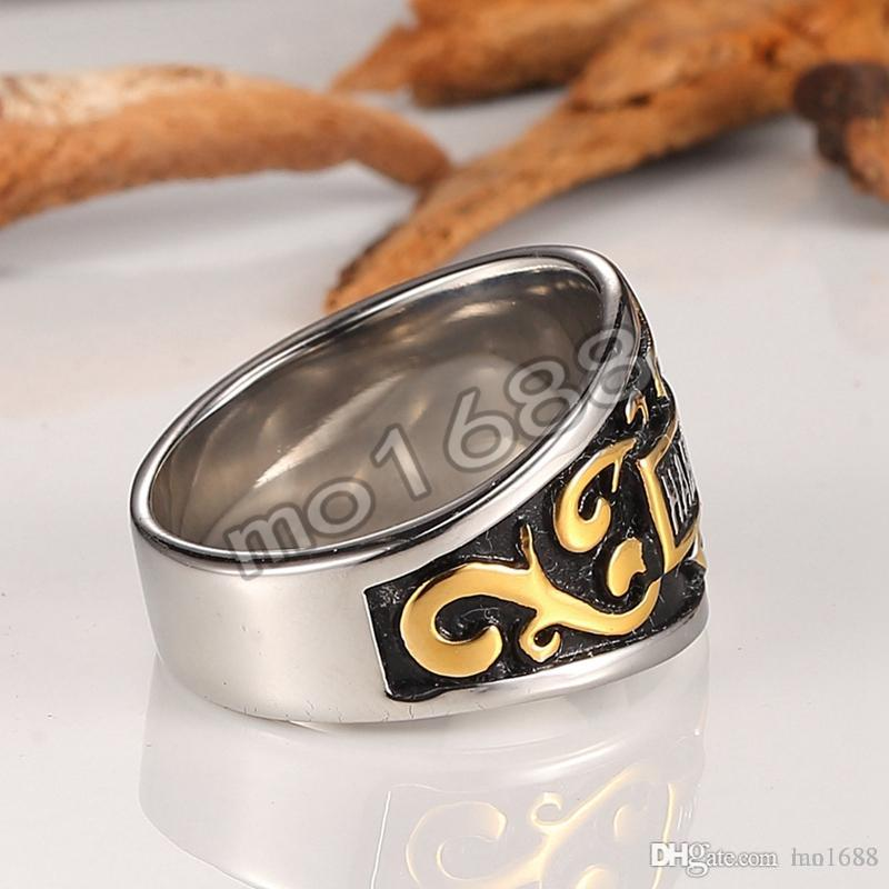 Wholesale stainless steel men's rings, retro Motorcycle party ornaments, personalized Davidson rings