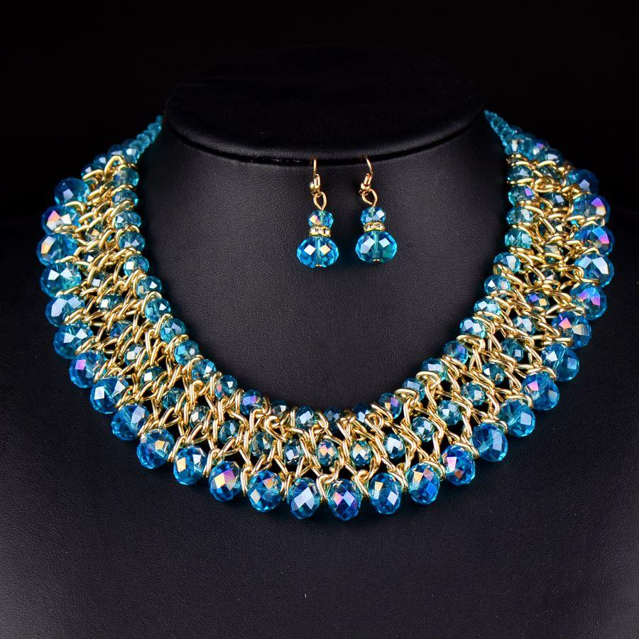 semi price jewellery strand stones imitation precious necklace side low img beads plated gold multi online pendant