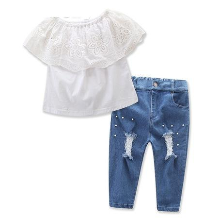 dab0bcc2fe07 Summer Baby Girl Clothes Kids Boutique Clothing Sets Girls Off ...