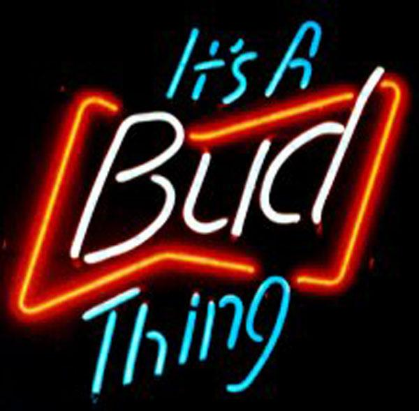 It\'s A Bud Thing Neon Sign Real Glass Custom Handmade Beer Bar Store ...