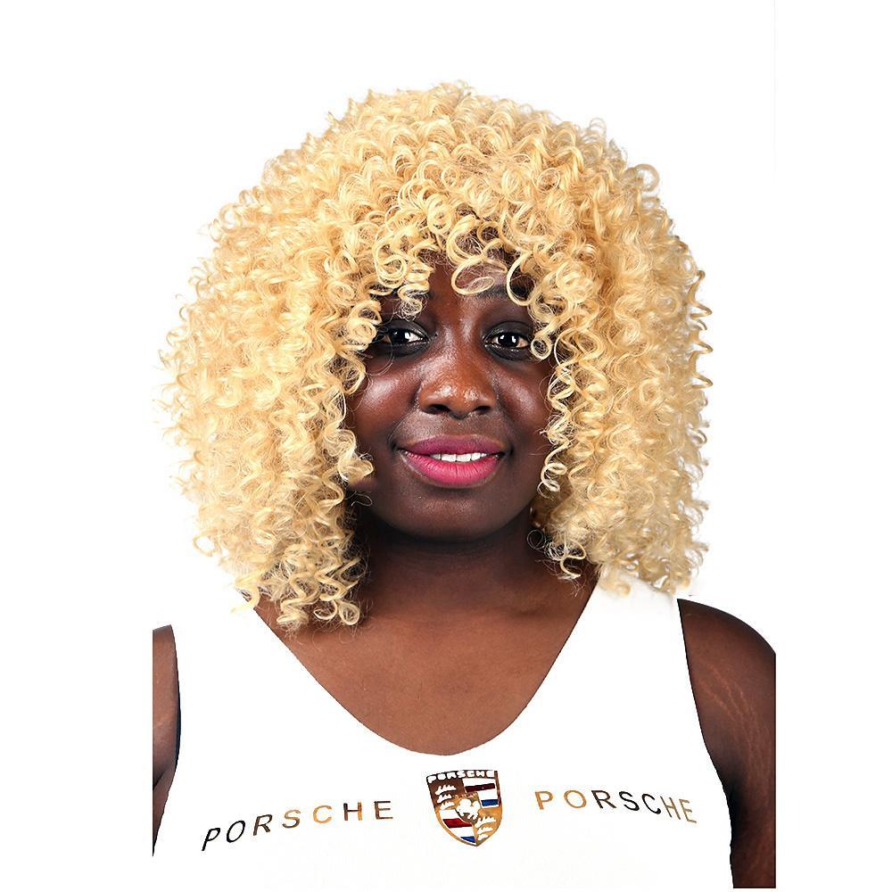 Xiu Zhi Mei Best Quality African American Cheap Wig Synthetic short kinky curly wig Fiber Short Afro Kinky Curly Hair Wigs for Black Women